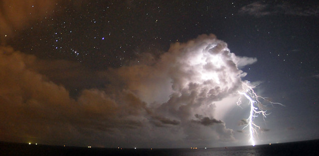 Lightning Storm off Mustang Island, Texas 2010