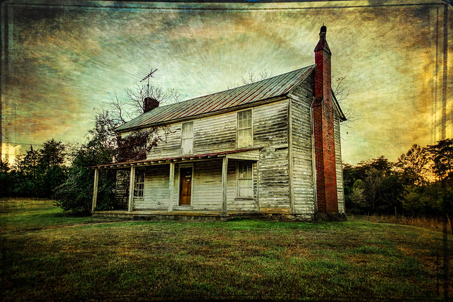 House on the Hill - Textured