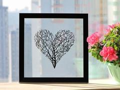 Branches Heart Handmade Original Papercut