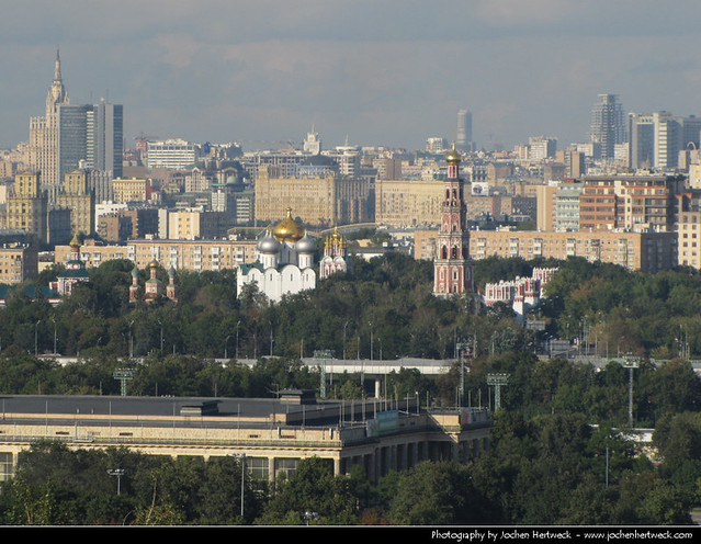 View from Vorobyovy Gory, Moscow, Russia