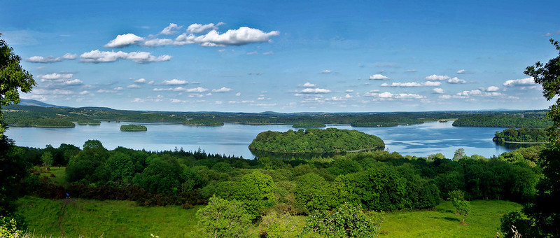 Lough Key from Rock of Doon