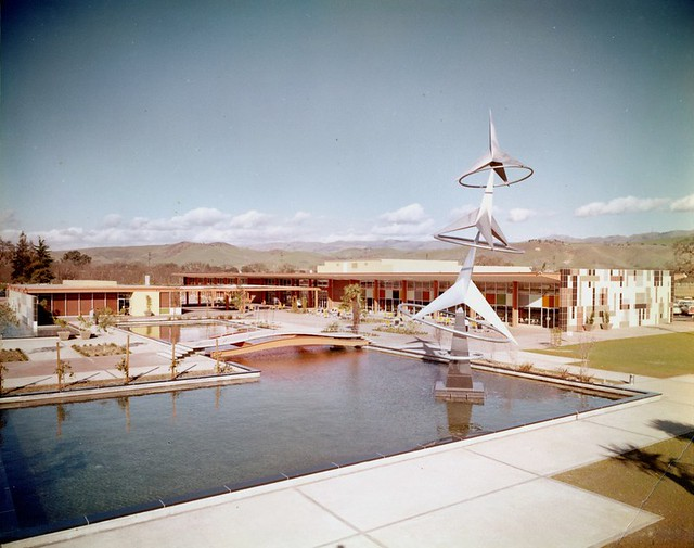 IBM, Building 25 With Hydrogyro Sculpture 1958