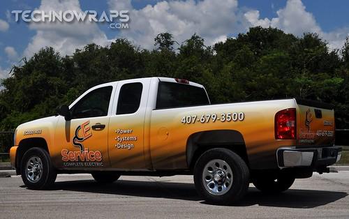 Pickup truck wrap in Florida