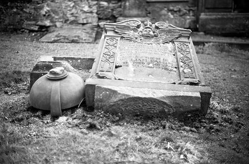 "Image titled ""Grave, St Cuthburt's Church, Edinburgh."""