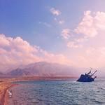The Sunken Ship. One of the touristic sites in Haql, Saudi Arabia معلم السفينة الغارقة في ساحل حقل #haql #saudi #arabia #redsea #ship #travel #iphone #vscocam
