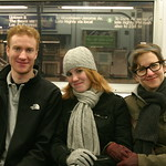 3 people on the subway