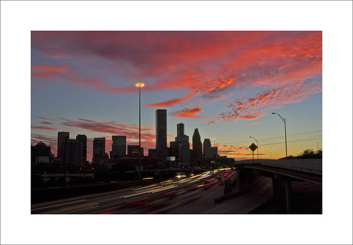 city nightphotography sunset sky urban color cars colors night clouds evening downtown texas skyscrapers nightshot traffic dusk tx cities houston freeway autos expressway i10 automobiles houstontx downtownhouston katyfreeway canoneos60d thehaif swamplot