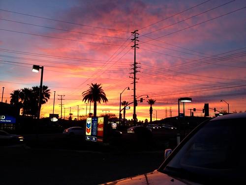morning sunset urban sunrise wires palmtree extra mile photostream eveing cheveron