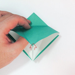 สอนวิธีการพับกระดาษเป็นรูปปลาฉลาม (Origami Shark) 010