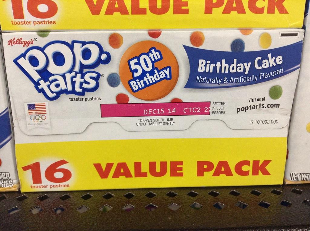 Pleasing Pop Tarts Birthday Cake 50Th Birthday Kelloggs Pop Tart Flickr Funny Birthday Cards Online Necthendildamsfinfo