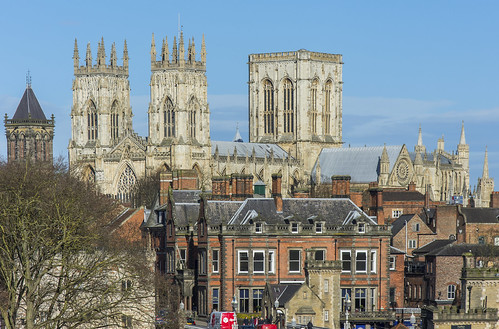 york minster cathedral north yorkshire st peter window towers city view rooftops