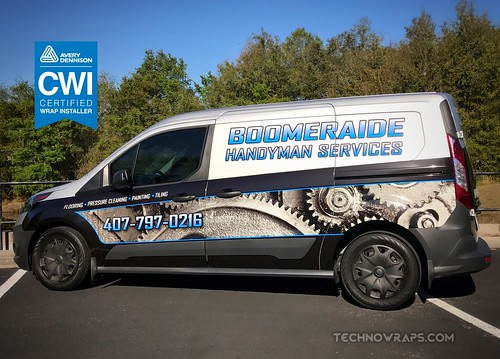 Ford Transit Connect cargo van wrap by TechnoWraps.com in Orlando