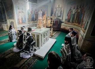 Литургия в Иверском монастыре 200