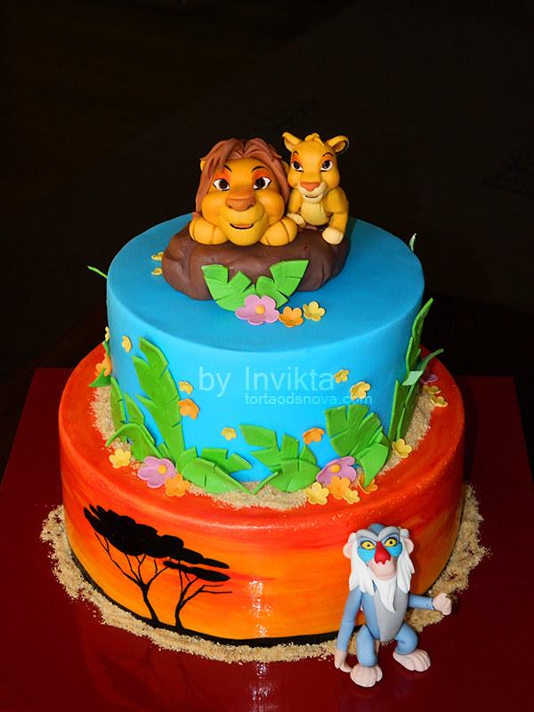Remarkable Lion King Birthday Cake Torta Od Snova Flickr Funny Birthday Cards Online Fluifree Goldxyz