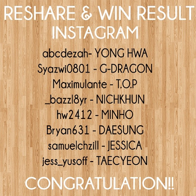KPOP Idol's Original NameTag Repost and Win contest result