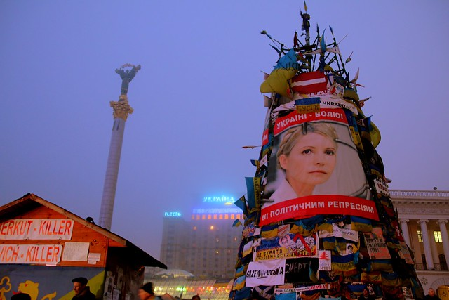 Ukrainian opposition leader Yulia Timoshenko freed and on independence square saturday 22 February