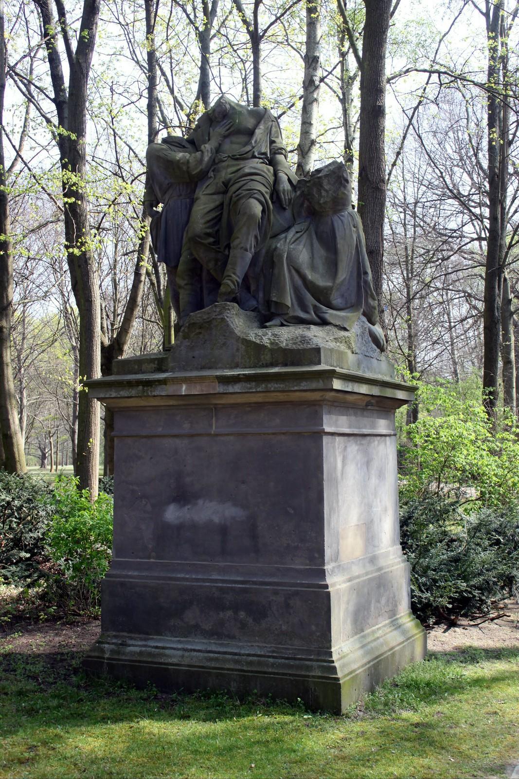 """Der verwundete Krieger"" im Berliner Tiergarten"