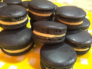 Black Sesame Macarons   by sallynewton1