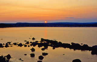 Sunset (21 July 1989) (Port Daniel Bay, Gaspe Peninsula, Quebec, Canada)