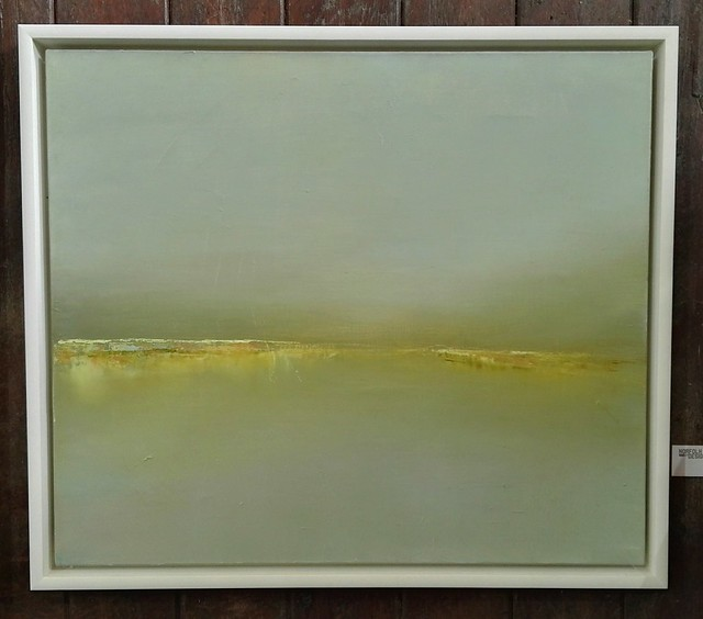 Blakeney Sands painting by Lorraine Bewick at Norfolk by Design's Houghton Hall exhibition