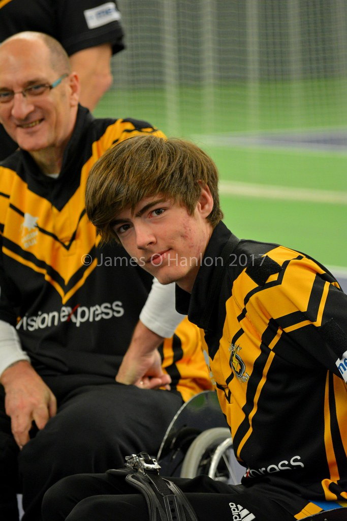 Wheelchair rugby player