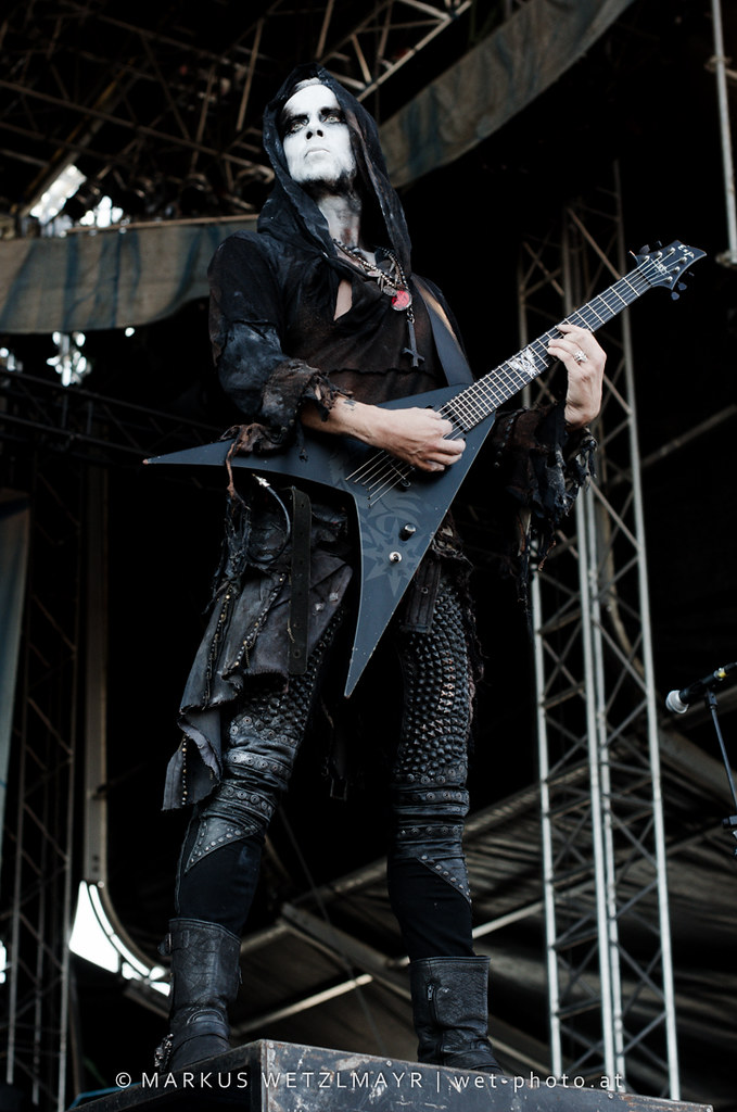 """Polish Blackened Death Metal band BEHEMOTH performing live at See Rock 2013 Festival near Schwarzl See, Graz, Styria, Austria on June 21, 2013.  © Markus Wetzlmayr 