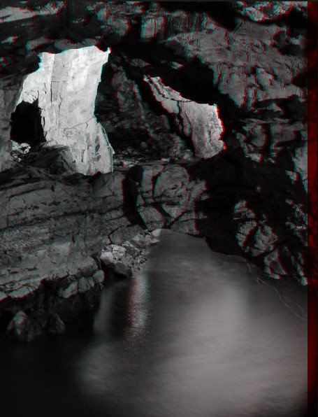 3D Smoo Cave anaglyph