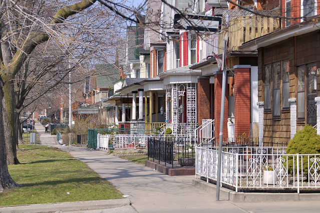 Late Victorian residential architecture, minimally gentrified - Little Portugal, Toronto.
