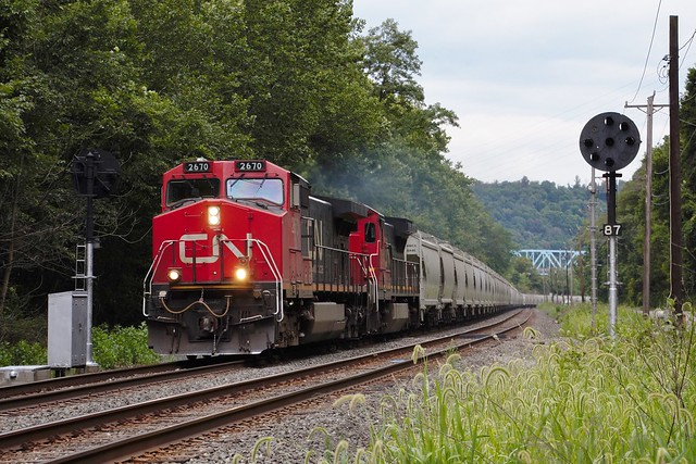 CN 2670 Midland Industry PA 8.7 Signals NS 66T 8/6/15