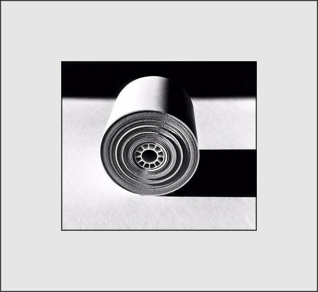 Spool of adding machine tape