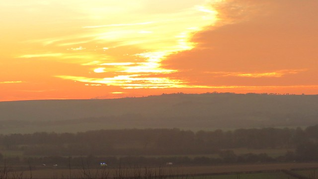 Sunset over Barbury (U.K.)