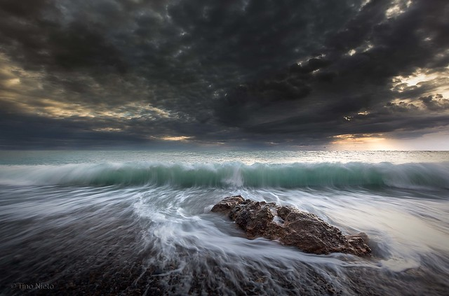 Splash of the waves
