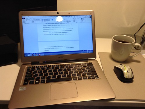 Writing while travelling