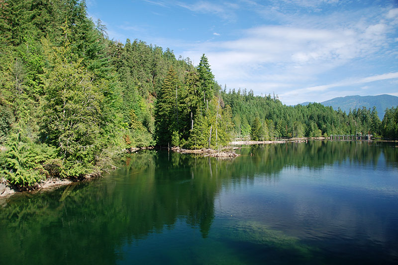 Great Central Lake near Port Alberni, Alberni Valley, Vancouver Island, British Columbia