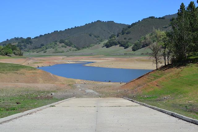 Uvas Reservoir, March 22, 2014: Boat ramp