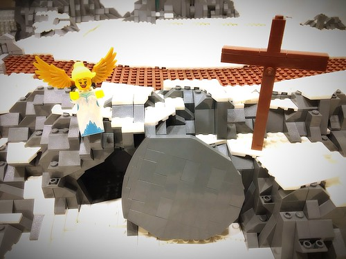 Why do you look for the living among the dead? HE is risen! | by AK_Brickster