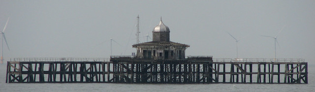 The abandonded pier head at Herne Bay