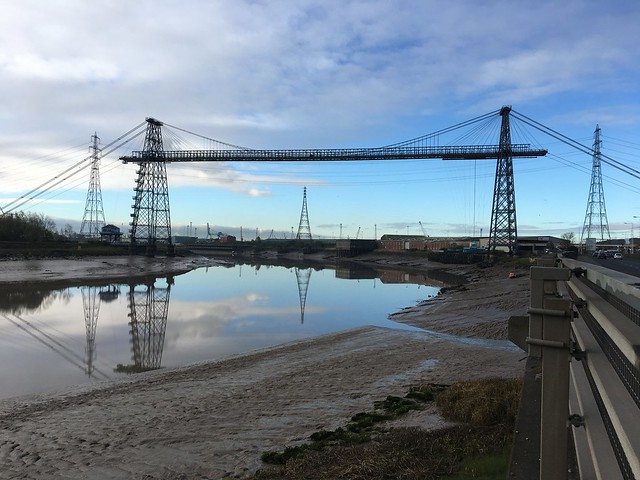 Transporter Bridge at low tide, Newport