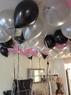 Wonderlijk Heliumballonnen Ballonnenplafond Zwart, Wit, Zilver, Roze | Flickr IA-94
