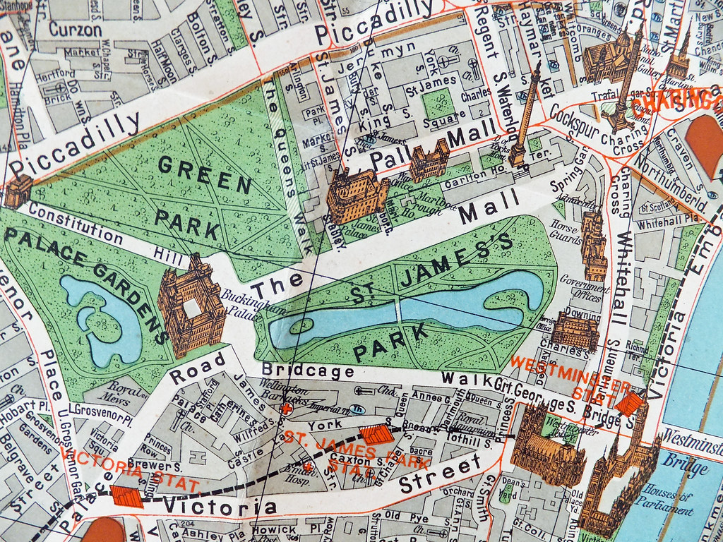 London Map Guide.Antique Map Of London Pharus Antique London Map And Guide Flickr
