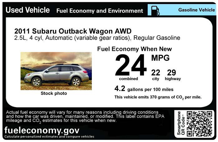 Used Car Fuel Economy Label | Check out our new labeling too… | Flickr