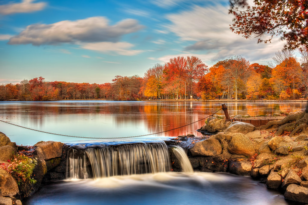 Belmont Lake Fall Colors Seen At Belmont Lake State Park