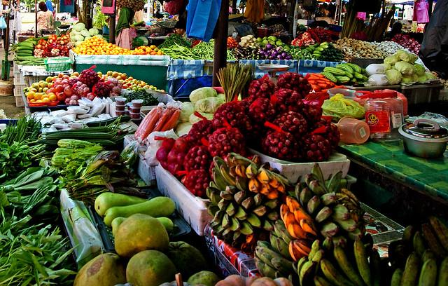 Local produce.   Tamu Kianggeh Brunei.