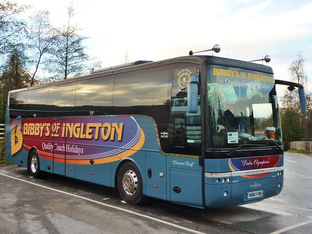 MB61 FWB - VDL SB4000 / Van Hool Alizee T9 - C48Ft - Bibby's of Ingleton Ltd., Ingleton, via Carnforth, North Yorkshire.