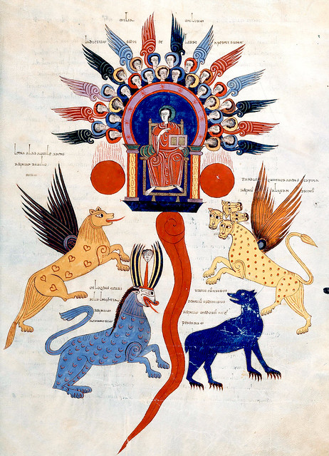 Theophanie & The four great beasts