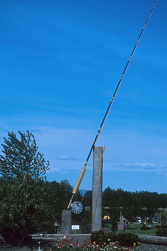 World's Largest Fly Rod, Houston, Yellowhead Highway 16, Northern British Columbia, Canada
