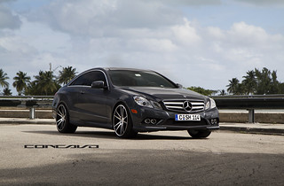 Mercedes Benz E550 on CW-S5 Matte Black Machined Face | by Concavo Wheels