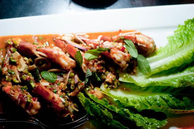 Prawn Salad Modern Thai Style