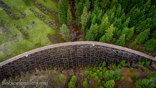 Rustic old train bridge leads through Idaho wilderness | by The Knowles Gallery