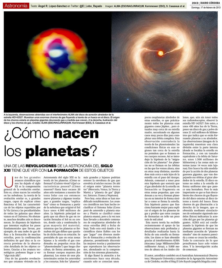 Zoco Astronomía: ¿Cómo nacen los planetas? | Artículo de